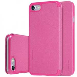 Nillkin Sparkle Sereis Side Flip Ultra-Slim Pu Leather Case For iPhone 7 4.7 inch - Rose