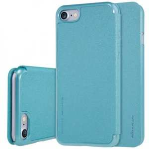Nillkin Sparkle Sereis Side Flip Ultra-Slim Pu Leather Case For iPhone 7 Plus 5.5 inch - Blue