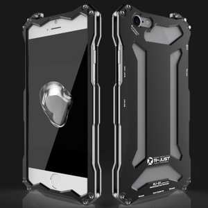 R-JUST Full Aluminum Metal Shockproof Protective Case for iPhone 7 4.7inch - Black