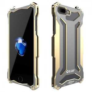 R-JUST Gundam Shockproof Full Aluminum Metal Case Cover for iPhone 7 Plus 5.5inch - Gold