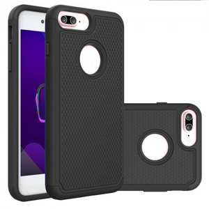 Rugged Armor Dual Layer Shockproof Protective Case for iPhone 6 Plus 5.5inch - Black