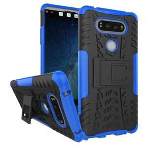 Rugged Armor Hybrid Dual Layer Kickstand Protective Case for LG V20 - Blue