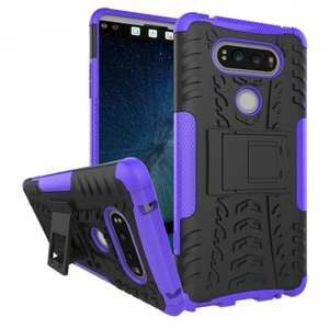 Rugged Armor Hybrid Dual Layer Kickstand Protective Case for LG V20 - Purple