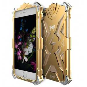 Rugged Armor Shockproof Aluminum Metal Protective Case for iPhone 7 4.7inch - Gold