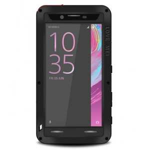 Shockproof Dust Proof Gorilla Glass Aluminum Metal Case for Sony Xperia X Performance - Black
