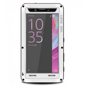 Shockproof Dust Proof Gorilla Glass Aluminum Metal Case for Sony Xperia X Performance - White