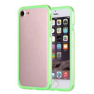 Clear Soft TPU Back Frame Border Cover TPU Bumper Case for iPhone 7 4.7inch - Clear&Green