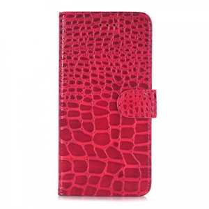 Crocodile Pattern PU Leather Stand Case with Card Slots For iPhone 7 Plus 5.5 inch - Red