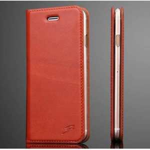 Fashion Oil Wax Genuine Leather Stand Wallet Flip Case for iPhone 7 4.7 inch - Red