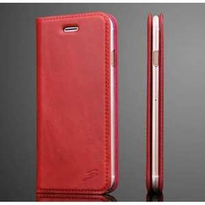 Fashion Oil Wax Genuine Leather Stand Wallet Flip Case for iPhone 7 4.7 inch - Rose