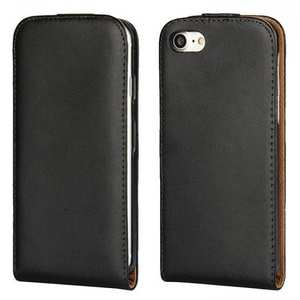 Genuine Leather Vertical Flip Magnetic Phone Case for iPhone 7 Plus 5.5 inch - Black