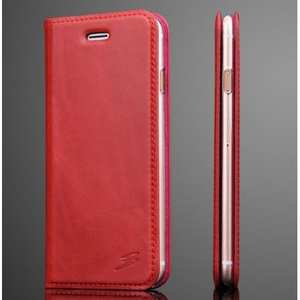 Oil Wax Real Genuine Leather Stand Wallet Flip Case for iPhone 7 Plus 5.5 inch - Rose
