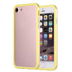 Shockproof Soft TPU Bumper Frame Protective Case For iPhone 7 Plus 5.5inch - Clear&Yellow