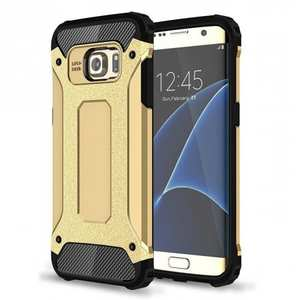 ShockProof Armor Hybrid Dual-layer Dustproof Protective Case for Samsung Galaxy S7 Edge - Gold