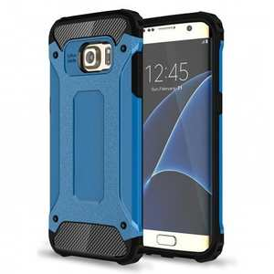 ShockProof Armor Hybrid Dual-layer Dustproof Protective Case for Samsung Galaxy S7 Edge - Blue