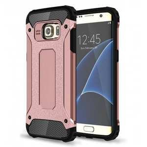 ShockProof Armor Hybrid Dual-layer Dustproof Protective Case for Samsung Galaxy S7 Edge - Rose gold