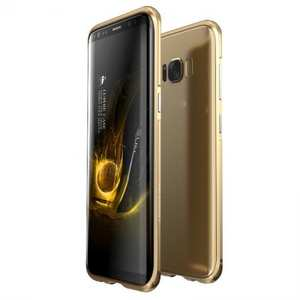 Aluminum Alloy Metal Bumper Frame Case Cover for Samsung Galaxy S8 - Gold