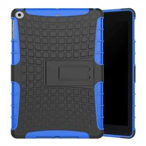 Rugged Armor Shockproof Dual Layer Protective Kickstand Case For Apple iPad 9.7 (2017) - Blue