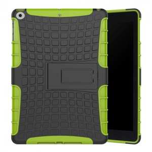 Rugged Armor Shockproof Dual Layer Protective Kickstand Case For Apple iPad 9.7 (2017) - Green