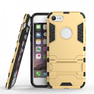 Slim Armor Shockproof Kickstand Protective Case for iPhone SE 2020 / 8 4.7inch - Gold