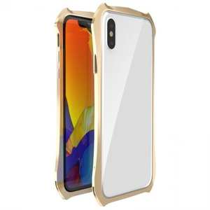 Shockproof Aluminium Metal Bumper Case for iPhone XS / X - Gold