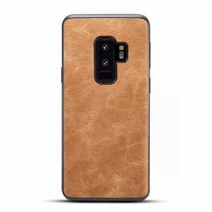 Luxury PU Leather Shockproof Slim Case Cover For Samsung Galaxy S9+ Plus - Brown