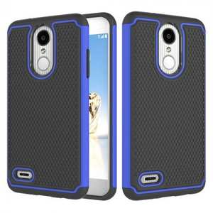 Full Body Hybrid Dual Layer ShockProof Protective Case For LG Tribute Dynasty / Aristo 2 - Dark blue