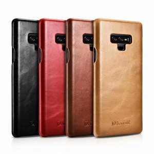 ICARER Vintage Curved Edge Real Leather Flip Case For Samsung Galaxy Note 9 / Note 9 / S9 / S10 S10 Plus