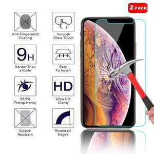 2-Pack For Apple iPhone XS Max 9H Hardness Tempered Glass Screen Protector Film
