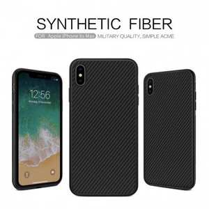 For iPhone XS Max 6.5 inch NILLKIN Synthetic Fiber Hard Case Cover - Black