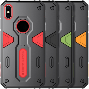 For iPhone XS Max Nillkin Defender Hard Shockproof Hybrid Armor Back Cover Case