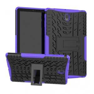 Rugged Shockproof Kickstand Cover Armor Back Case for Samsung Galaxy Tab S4 10.5 T830/T835 - Purple