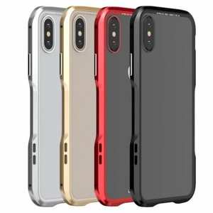 For iPhone XS Max Magnetic Adsorption Metal Bumper + Tempered Glass Back Case Cover
