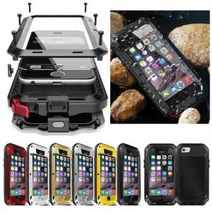 For iPhone SE 11 Pro Max / X XS XR Max / 8 7 6 Plus Shockproof Waterproof Aluminum Gorilla Glass Cover Case