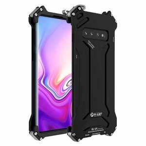 R-JUST Gundam Series Aluminum Shockproof Case for Samsung Galaxy S10 - Black