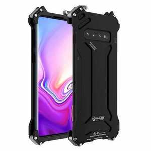 Case For Samsung Galaxy S10 S10e S10 Plus Shockproof Aluminum Metal Cover - Black