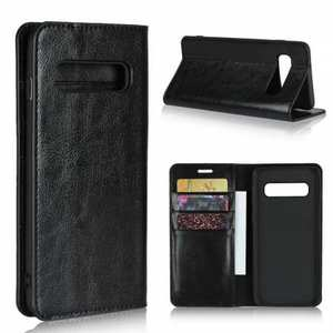 Flip Magnetic Wallet Genuine Leather Case Cover For Samsung Galaxy S10 S10 Plus Note 10 Plus S20 Ultra Plus