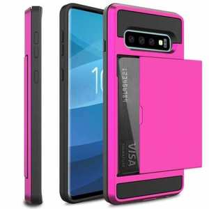 For Samsung Galaxy S10 Plus/S10E/Lite Case Cover With Card Wallet Holder Slot - Rose