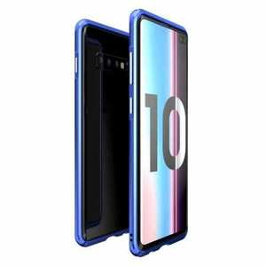 Shockproof Aluminum Metal Frame Case for Samsung Galaxy S10 - Blue