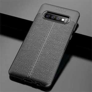 For Samsung Galaxy S10e Shockproof Soft TPU Leather Case - Black