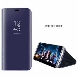 For Samsung Galaxy S10 Smart Clear Mirror Leather Stand Case Cover - Purple&Blue