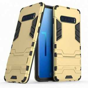Armor Hybrid Slim Case Shockproof Stand Cover For Samsung Galaxy S10e - Gold