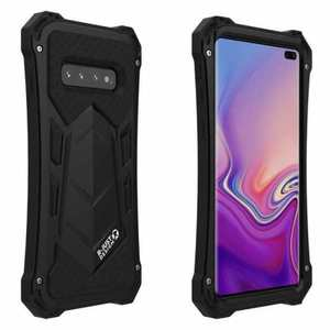 Case For Samsung Galaxy S10 Plus R-JUST Shockproof Metal Alloy Case - Black