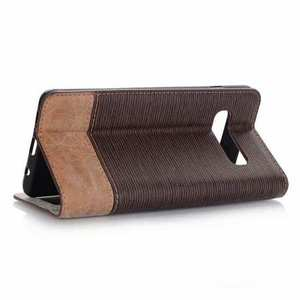 For Samsung Galaxy S10 Cross Pattern Flip Leather Case - Coffee