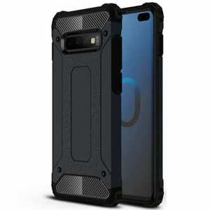 Luxury Hybrid Armor PC+TPU Protective Case Cover For Samsung Galaxy S10 Plus - Black