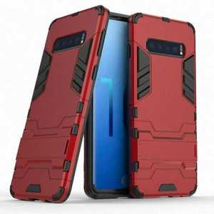 Shockproof Hybrid Armor Stand Case Cover For Samsung Galaxy S10e - Red