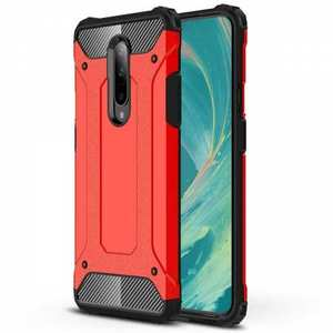 For OnePlus 7 / 7 Pro Shockproof Hybrid Hard Armor Phone Case Red