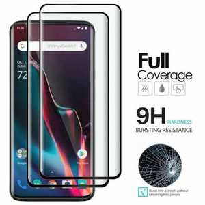 For OnePlus 7 7T 8 Pro 3D Full Coverage Tempered Glass Film Screen Protector Black
