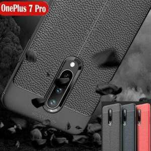 For OnePlus 7 Pro Case Slim Shockproof Leather Silicone Soft Cover