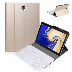 For Samsung Galaxy Tab S5e 10.5 SM-T720/T725 Detachable Bluetooth Keyboard Leather Case - Gold